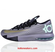 222926f75f1d93 NIKE KD VI KD6 Kevin Durant Gray Basketball shoes  fashion