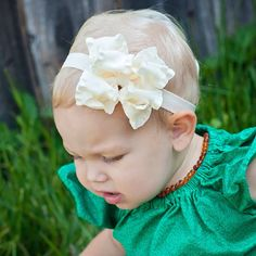 Baby headband, Double Layer Ruffle Ribbon Baby Headband Bow ANY color YOU choose, baby bow, Boutique Bow, Kinley Kate by KinleyKate on Etsy