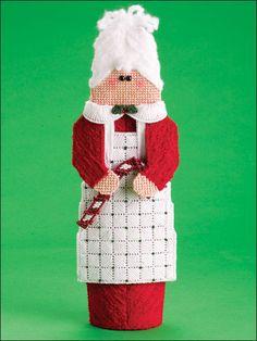 Plastic Canvas - Holiday & Seasonal Patterns - Christmas Patterns - Mrs. Santa