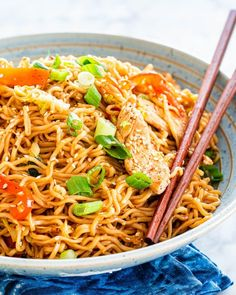 Ramen Stir Fry is a simple but tasty dish that is perfect for any night of the week. Packed full of crunchy veggies cooked down in a savory spicy sauce, served over ramen noodles, this dish is a home run! Ramen Noodle Recipes, Ramen Noodles, Chicken Noodles, Fried Ramen, Healthy Ramen, Jo Cooks, Spicy Sauce, Asian Recipes, Top Recipes
