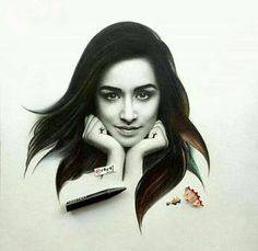 Drawing by me😘😘😘😘😘 Bollywood Heroine, Beautiful Bollywood Actress, Beautiful Actresses, Prettiest Actresses, Celebrity Drawings, Celebrity Portraits, Cool Sketches, Amazing Sketches, Portrait Sketches