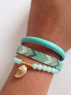 Bracelets in Tiffany blue