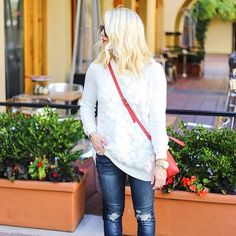 This look is coming soon on zee blog, but this yummy embroidered sweater is only still on sa... @liketoknow.it www.liketk.it/1Dloo #liketkit