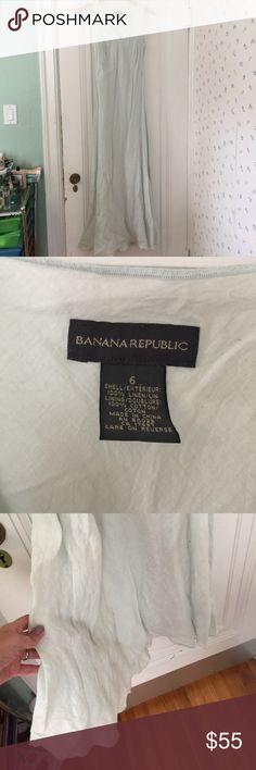 Gorgeous linen summer dress floor length Banana Rebulic  floor length linen summer dress light blue Banana Republic Dresses