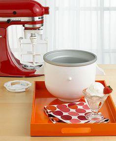 KitchenAid KICA0WH Stand Mixer Attachment, Ice Cream Maker - Electrics - Kitchen - Macy's