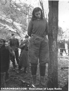 Execution of Lepa Radić, Yugoslavian partisan. 1943.