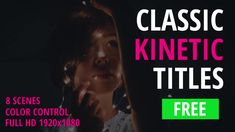 Free Classic Kinetic Titles is a universal and multi-purpose After effects project that is perfect for telling stories or for business presentations of your company. The project includes a color controller for quick changes. Just edit the text, make the adjustments needed and render. No plugins are required!