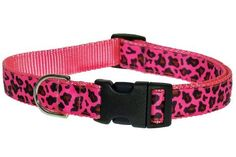 """Small Pink Leopard Dog Collar: 5/8"""" wide, Adjusts 10-14"""" - Made in USA. by Sassy Dog Wear, http://www.amazon.com/dp/B001O9T020/ref=cm_sw_r_pi_dp_X8wNrb0HBT51S"""