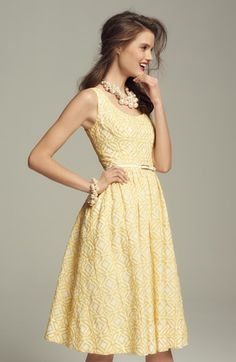Gorgeous jacquard fit & flare dress http://rstyle.me/n/hk74mnyg6