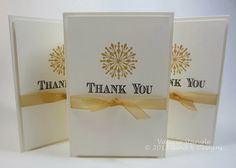 Simple Thank You Card by {stampin' gal val}