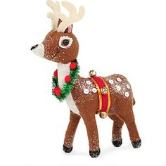 kids will love this plush bambi christmas decoration from gisela graham perfect for adding some winter charm to your home bambi will look adorable by the