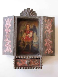 Cusco Retablo Wood Religious Art Shrine by JeepersKeepers on Etsy, $350.00   MAKE SOME WHERE THE DOORS OPEN/CLOSE!!!!!!!!!!!!!!!!!