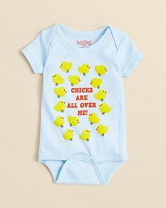 Sara Kety Infant Boys' Chicks Are All Over Me Bodysuit