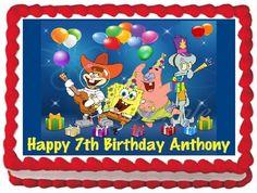 Spongebob Squarepants Edible Frosting Sheet Cake Topper - 1/4 Sheet > Check this awesome image : baking decorations