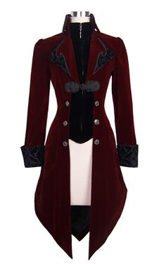 Devil Fashion Red Maelstrom velvet jacket