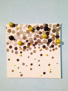 Quadro con capsule nespresso #paint diy with #nespresso #capsule recycle