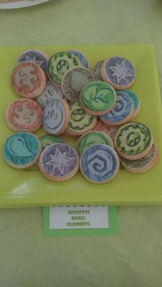 Elements cookies with edible paper
