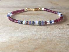 A personal favourite from my Etsy shop https://www.etsy.com/no-en/listing/601507297/multicoloured-sapphire-bracelet-sapphire