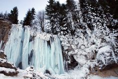 Pișoaia Waterfall in winter, Apuseni mountains What A Wonderful World, Wonders Of The World, Winter, Waterfall, Mountains, Landscape, Country, Places, Travel