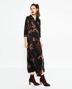 Image 1 of LONG PRINTED DRESS from Zara