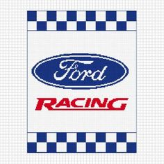 FORD RACING CROCHET AFGHAN PATTERN GRAPH EMAILED