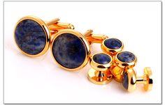 Fashion Jewelry Cufflinks Blue Stone Studs Sets Best Man buttons18K Gold Plated Cufflinks on Aliexpress.com | Alibaba Group
