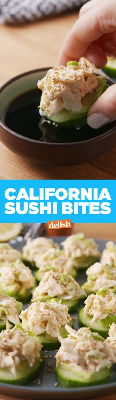 California Sushi Bites are like low-carb sushi. Get the recipe on Delish.com.