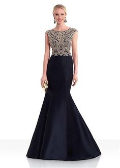 Magbridal Elegant Satin Jewel Neckline Cap Sleeves Cut-out Mermaid Evening Dress With Lace Appliques & Hot-fix Rhinestones Designer Evening Dresses, Mermaid Evening Dresses, Designer Wedding Dresses, Evening Gowns, Shrug For Dresses, Gala Dresses, Chic Dress, Lace Dress, Cocktail Outfit