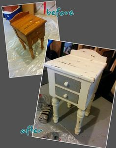 Nightstand done with diy chalk paint