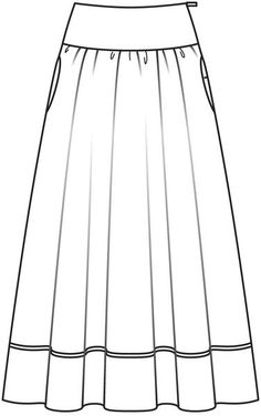 Technical Fashion Drawings Skirts on tulip skirt