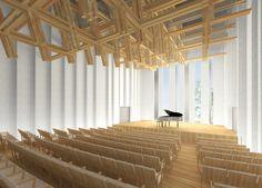 Kengo Kuma Designs Cultural Centre in Iiyama,© Kengo Kuma & Associates