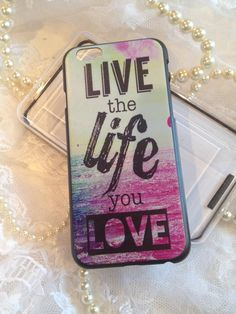 iPhone 6 Case Colorful Designer Live Life Love Hard Shell Cover