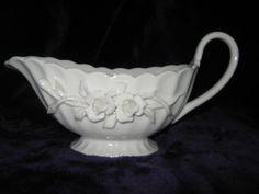 "Grace's Teaware Victorian Rose Gravy Boat, 8½"" x 3½"" x 3¼"" tall. $25.00 at kimmelr on ebay, 4/21/16"