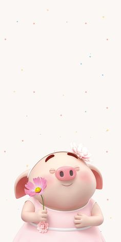 Pig Wallpaper, Cute Disney Wallpaper, Ballerina Painting, Pig Drawing, Pig Illustration, Sunflower Wallpaper, Cute Pigs, Little Pigs, Cute Art