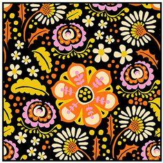 Folk (orange/pink) by Leena Renko for Verson Puoti