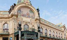 Municipal House, showing the art nouveau work of Alphonse Mucha, Prague, Czech Republic