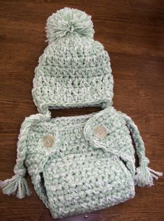 Any Color Hat and Diaper Cover Set by AuntWednesdays on Etsy, $25.00