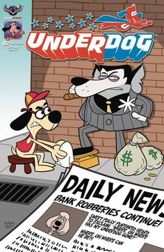 DEAL OF THE DAY Underdog #2 (Riff Raff Ropp Cover) Was: $3.99 Your Price: $3.59 You save 10% There's no need to fear, Underdog is here! Free Comic Book Day's all ages darling, the classic rhyming superdog, returns with brand new adventures for kids of all ages. What happens when there's a new hero in town stealing Underdog's thunder? Will they be super friends or arch enemies?  TO BUY CLICK ON LINK BELOW http://tomatovisiontv.wix.com/tomatovision2