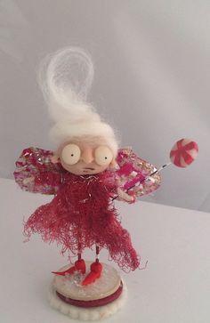 Peppermint fairy  ooak art doll  on Etsy, $59.00