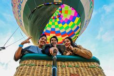 En un globo