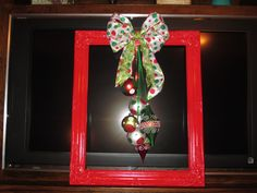 My Christmas Frame Wreath - One of my Favorite pieces - For Rachel and James