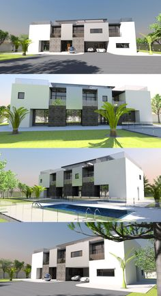 Contemporary house plan designs for the self-builder. We offer totally unique and inspiring modern designs for stunning new contemporary residences, to give your dream home the best possible start. Home Design Plans, Plan Design, Floor Slab, Maids Room, Contemporary House Plans, Bedroom With Ensuite, Concrete Blocks, Vinyl Flooring, Flooring Ideas