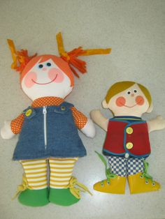 Vintage 1970 Playskool Dapper Dan 1979 Dressy Bessy Teaching Doll...  I didn't have one but I played with these