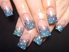nail glitter designs