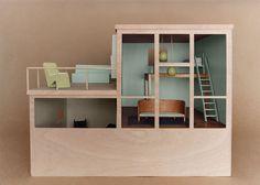 If It's Hip, It's Here: Bauhaus Mini-modernist Doll Houses Promote Karen Walker Paints For Resene Dollhouse Toys, Modern Dollhouse, Walker House, Indoor Paint, Paint Color Palettes, Paint Colours, I Love House, Diy Fashion Accessories, Colour Schemes