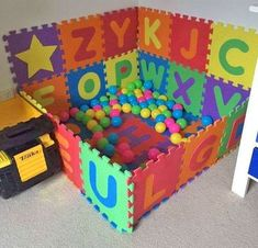 Interlocking Letter Play Mats Let You Build Your Own Ball Pit - Kids Room Best Pin Toddler Room Organization, Office Organization, Trendy Kids, Baby Kind, Build Your Own, Creative Kids, Girl Room, Play Mats, Painting