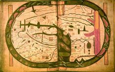 World map from the Saint-Sever Beatus, Mappa Mundi - Early world maps - Wikipedia, the free encyclopedia Old Maps, Antique Maps, Vintage World Maps, Early World Maps, Early Modern Period, Map Globe, 11th Century, Medieval Art, Dark Ages