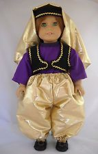 """Fits 18"""" American Girl doll Turkey Turkish folk dress clothes A (COSTUME ONLY)"""