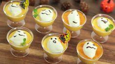 """大人気の料理研究家marimoさん実演の動画「おばけちゃんのマンゴープリン」を公開。作るとデコレーションが簡単レシピなのにとてもおいしく可愛く仕上がります。フェイスブックページもあります。⇨7cutrecipeを検索してみて下さい。Visit 7cutrecipe.com for various Halloween sweet recipes. Including this easy to make and very cute """"Spooky Mango Pudding"""" from famous food blogger Marimo san.  Search """"7cutrecipe"""" to find us on Facebook."""