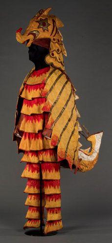 "A costume of a sea horse, by Natalia Goncharova, from ""Sadko."" Museum Rolf de Maré Stockholm"